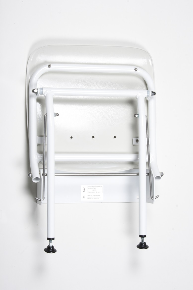 322011 Shower seat for wall mounting, stainless steel   Tukimet Oy