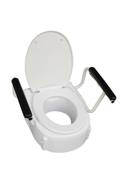 336180 Toilet raiser with arm rests, height adjustable