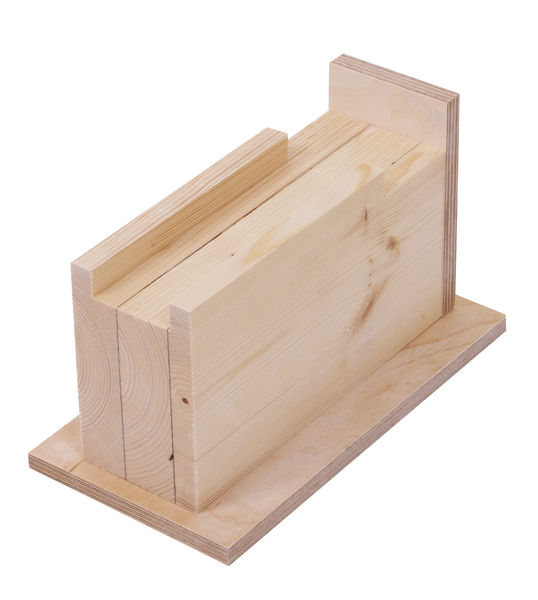 650130 Box-framed bed raiser, 7 cm, wooden